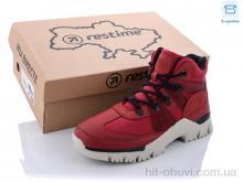 Кроссовки Restime SW021333 d.red-black