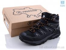 Ботинки Restime AM021907 black-d.grey-yellow