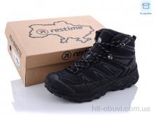 Ботинки Restime AM021907 black-d.grey