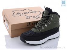 Ботинки Restime TMZ21335 khaki-black