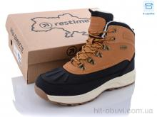 Ботинки Restime TMZ21335 camel-black