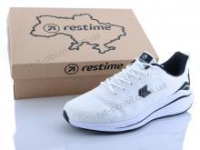 Кроссовки Restime KML20226 white-black