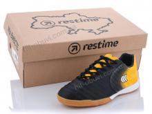 Футбольная обувь Restime DD020810 black-white-yellow