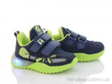Кроссовки Style-baby-Clibee NN887 d.blue-green LED