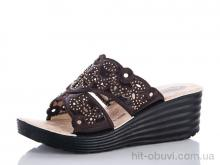 Шлепки Waldem Ж096 коричневый