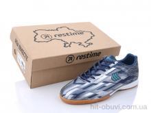 Футбольная обувь Restime DMB21419 navy-silver
