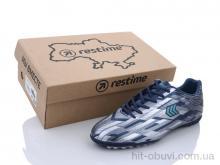Футбольная обувь Restime DMB21419-1 navy-silver