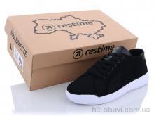 Кроссовки Restime SWL21835 black-white