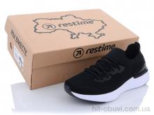 Кроссовки Restime SWL21833 black-white