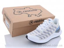 Кроссовки Restime SWL21838 white-periwinkle