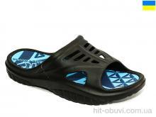 Шлепки Крок 126 черно-синий