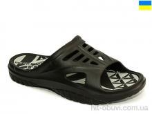Шлепки Крок 126 черно-серый