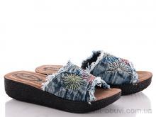 Шлепки Makers Shoes Джинс цветок